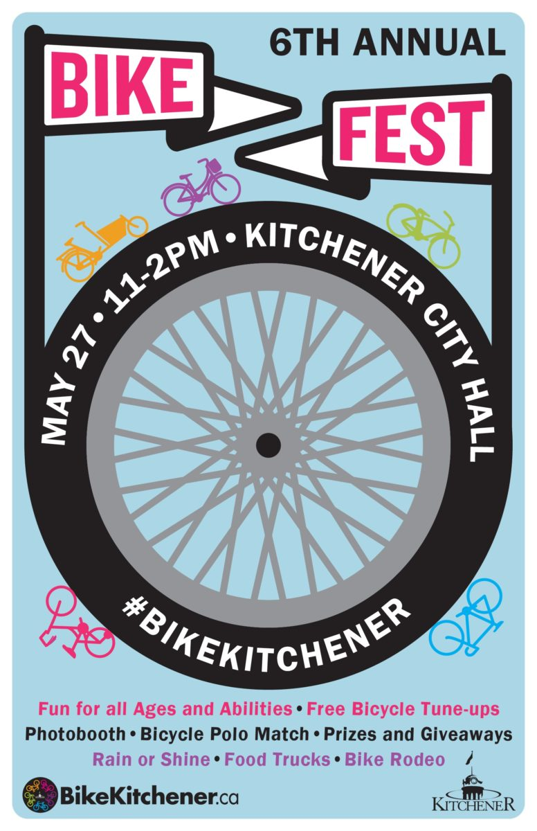 Bikefest Poster Kitchener City Hall May 27