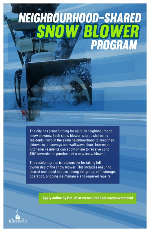 Shared Snow Blower Program poster