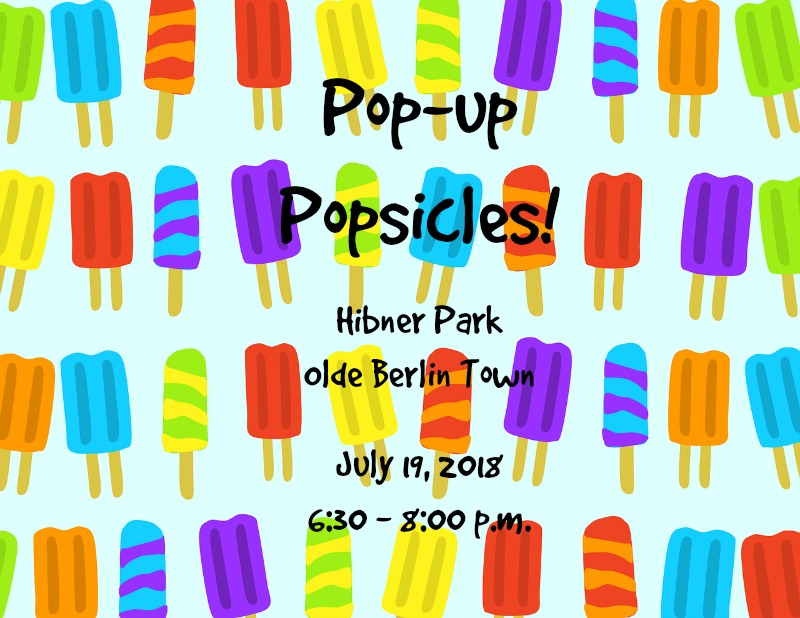 Pop up popsicles event