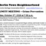 Community Meeting October 3 2018